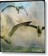 Flight Of The Seagulls Metal Print