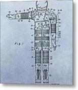 Flight Suit Patent Metal Print