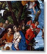 Flight To Egypt With Angels Metal Print