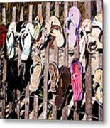 Flip Flops By Jan Marvin Metal Print