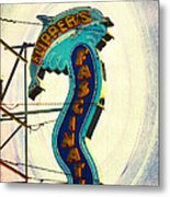 Flippers Facination - Wildwood Boardwalk Metal Print by Bill Cannon