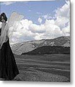Flirty Fairy Black And White Metal Print
