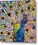 Flirty Peacock Metal Print