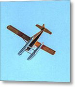 Float Plane Fly Over Pacific Northwest Metal Print