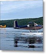 Float Planes On Keuka Metal Print by Joshua House