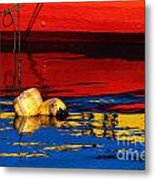 Floating Buoys And Reflections Metal Print