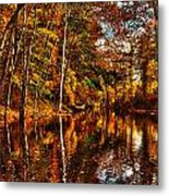 Floating Down Heavenly River. Metal Print