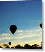 Floating In The Air At Sundown Metal Print