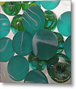 Floating Marbles Metal Print