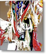 Floating Native Dancer Metal Print