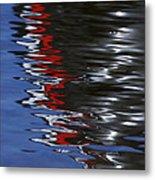 Floating On Blue 14 Metal Print