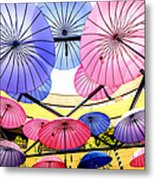 Floating Umbrella Metal Print