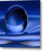 Floating Water Drop Metal Print