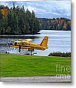 Floatplane In Fall Metal Print