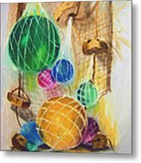 Floats And Nets Metal Print