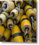 Floats Used In Crab Fishing Metal Print