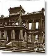 James Clair Flood Mansion Atop Nob Hill San Francisco Earthquake And Fire Of April 18 1906 Metal Print