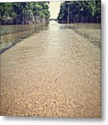 Flooded Road Metal Print