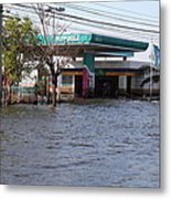 Flooding Of Stores And Shops In Bangkok Thailand - 01133 Metal Print