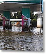 Flooding Of Stores And Shops In Bangkok Thailand - 01135 Metal Print