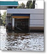 Flooding Of Stores And Shops In Bangkok Thailand - 01136 Metal Print by DC Photographer