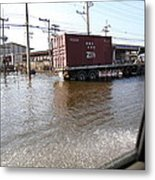 Flooding Of The Streets Of Bangkok Thailand - 01135 Metal Print by DC Photographer
