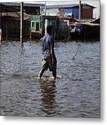 Flooding Of The Streets Of Bangkok Thailand - 01136 Metal Print