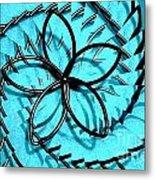 Flor Azul Metal Print