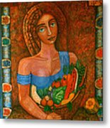 Flora - Goddess Of The Seeds Metal Print
