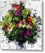 Floral A3 Metal Print
