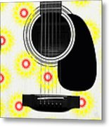 Floral Abstract Guitar 22 Metal Print
