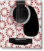 Floral Abstract Guitar 24 Metal Print