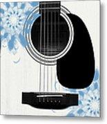 Floral Abstract Guitar 25 Metal Print