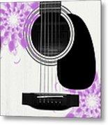 Floral Abstract Guitar 26 Metal Print