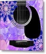 Floral Abstract Guitar 27 Metal Print