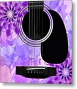 Floral Abstract Guitar 29 Metal Print