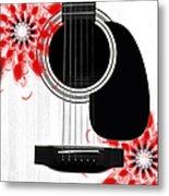 Floral Abstract Guitar 33 Metal Print