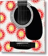 Floral Abstract Guitar 8 Metal Print