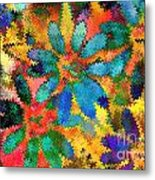 Floral Abstract Photoart Metal Print