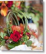 Floral Centerpiece Metal Print