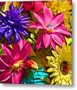 Floral Colors 1 Metal Print