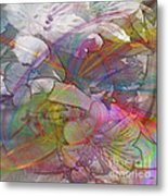 Floral Fantasy - Square Version Metal Print