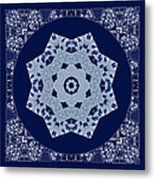 Floral Flow Blues Metal Print