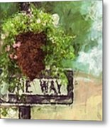 Floral - Flowers - One Way Metal Print