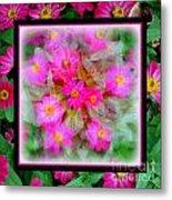 Floral Framework Metal Print