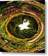Floral Garden Polar View  02 Metal Print