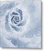 Floral Impression Cyanotype Metal Print