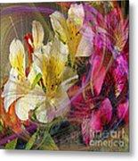 Floral Inspiration - Square Version Metal Print