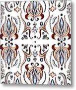 Floral Pattern IIi Metal Print