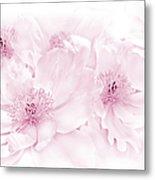 Floral Peonies In Pink Metal Print